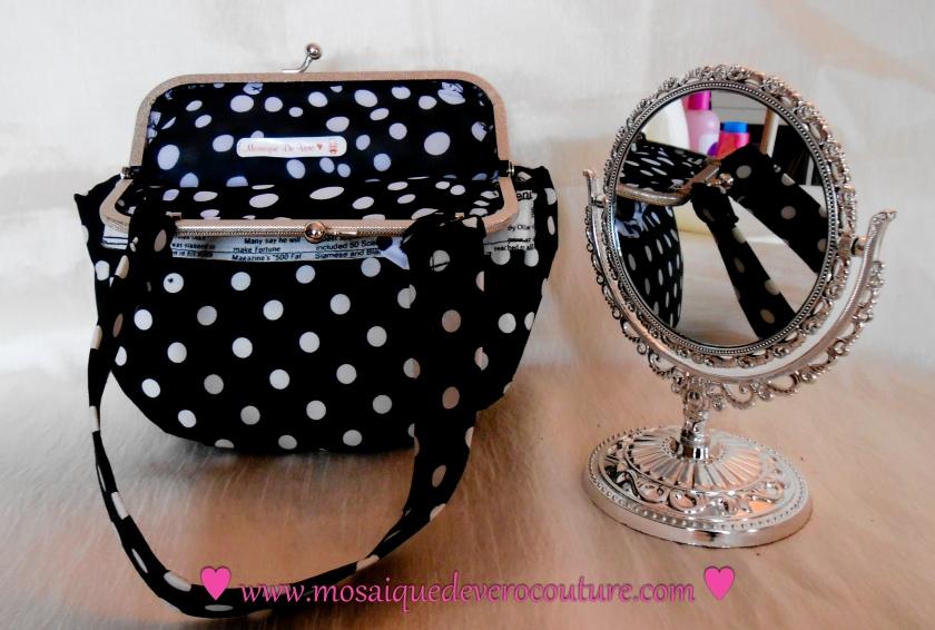 sac à main, sac à main en tissu, sac à main noir, créatrice toulousaine, toulouse, sac à main original, Création, Mosaique De Vero.