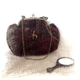 mosaiquedevero, mosaique de vero, sac à main, sac à main en tissu, créatrice de sacs à main, créatrice, toulouse, forêt, sac à main d'hiver