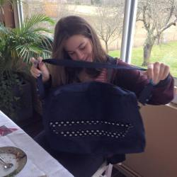 grand sac, sac pour les cours, sac original, créatrice, toulouse, france, jean, pois, dénim, sac pour les cours, sac pour le travail, bolso grande, para las clases, para el trabajo, topos, vaquero, mosaique de vero