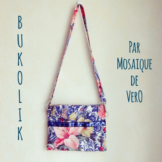 sac à main, bolso, sac à main en tissu, mosaique de vero, mosaiquedevero, création, toulouse, fleurs, flores, azul, bleu, sequins, lentejuelas